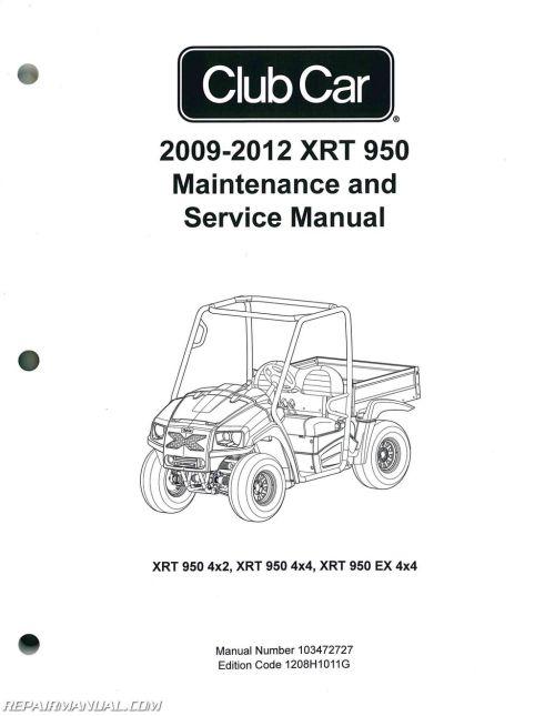 small resolution of 2009 2012 club car xrt 950 maintenance golf cart service manual2012 club car wiring diagram