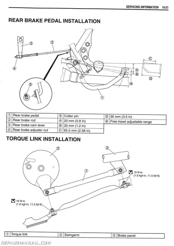 Suzuki Tu250x Motorcycle Service Manual