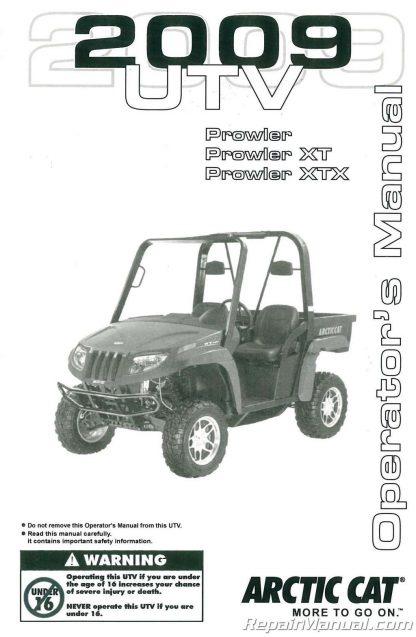 2009 Arctic Cat Prowler XT XTX ATV Owners Manual