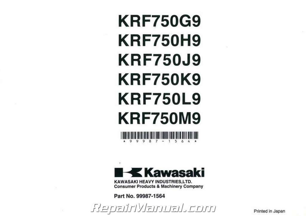 2009 Kawasaki KRF750G J K L M Teryx 750 4X4 Side by Side