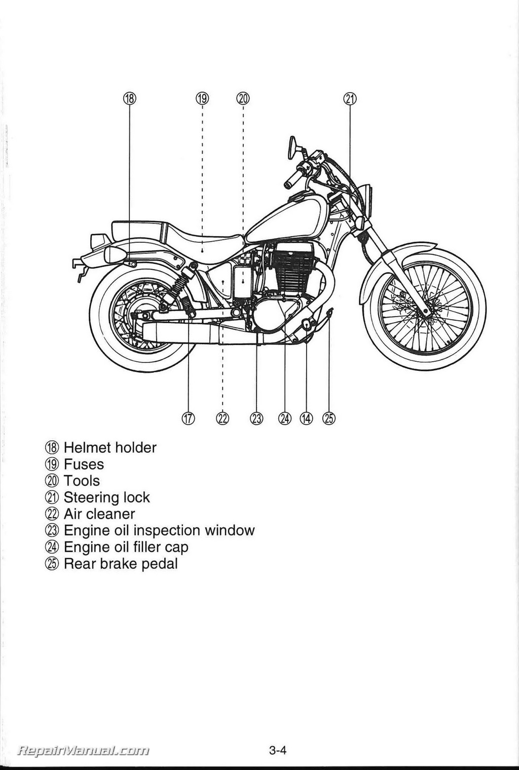 2009 Suzuki Boulevard S40 LS650 Motorcycle Owners Manual