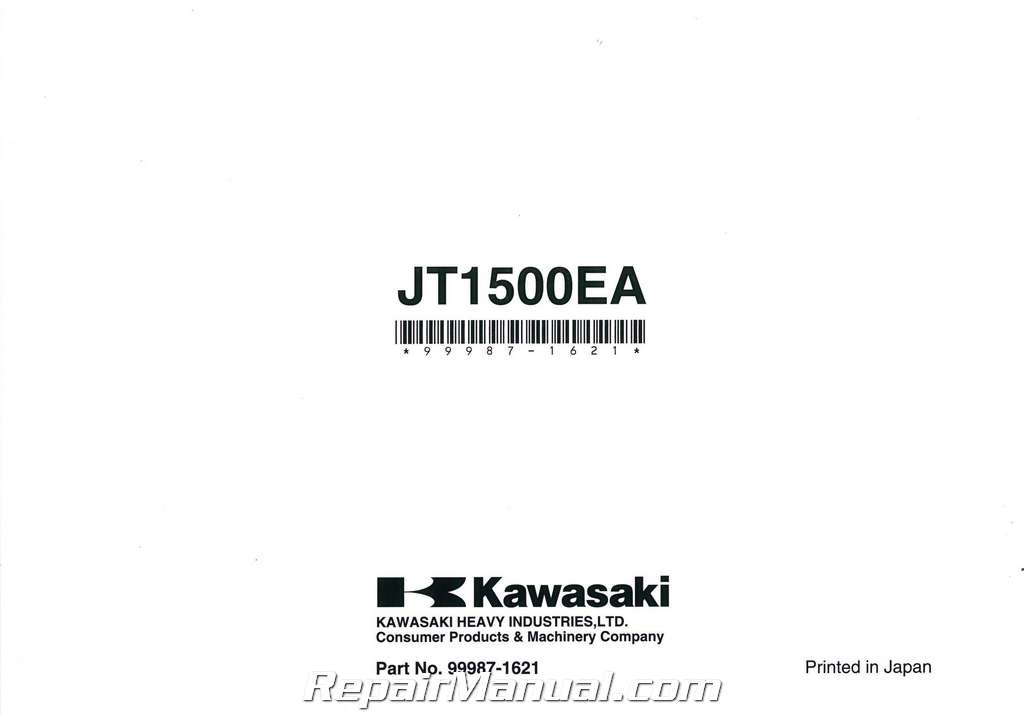 2010 Kawasaki JT1500E Jet Ski Ultra 260X Owners Manual