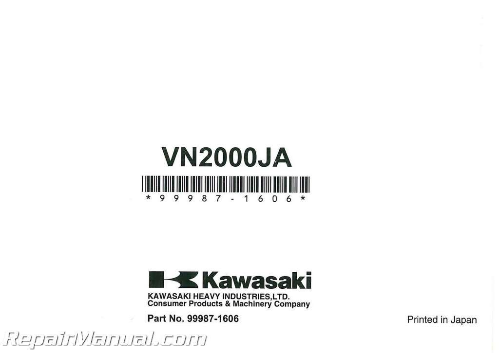 2010 Kawasaki VN2000J Vulcan 2000 Classic LT Motorcycle