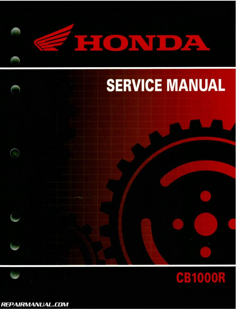 medium resolution of 2011 2016 honda cb1000r motorcycle service manual wiring diagram honda cb1000