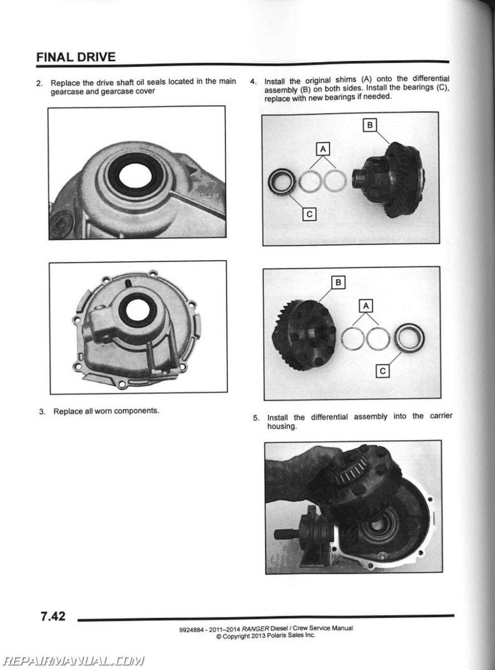 medium resolution of 2011 2014 polaris ranger diesel
