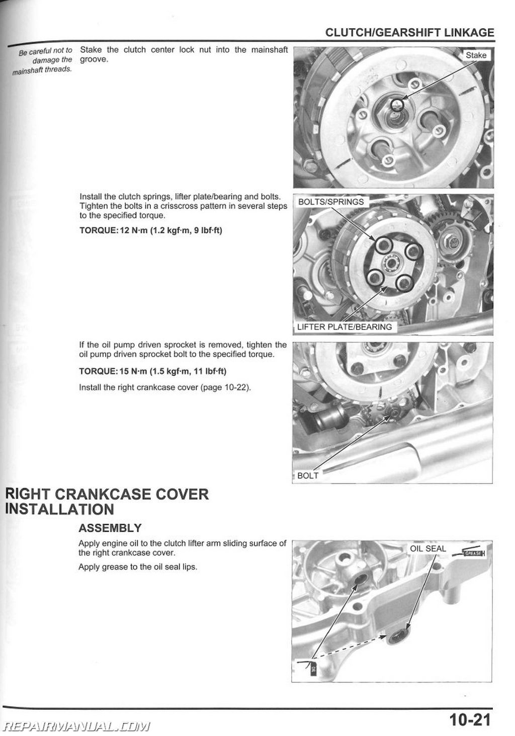 Honda shadow aero repair manual
