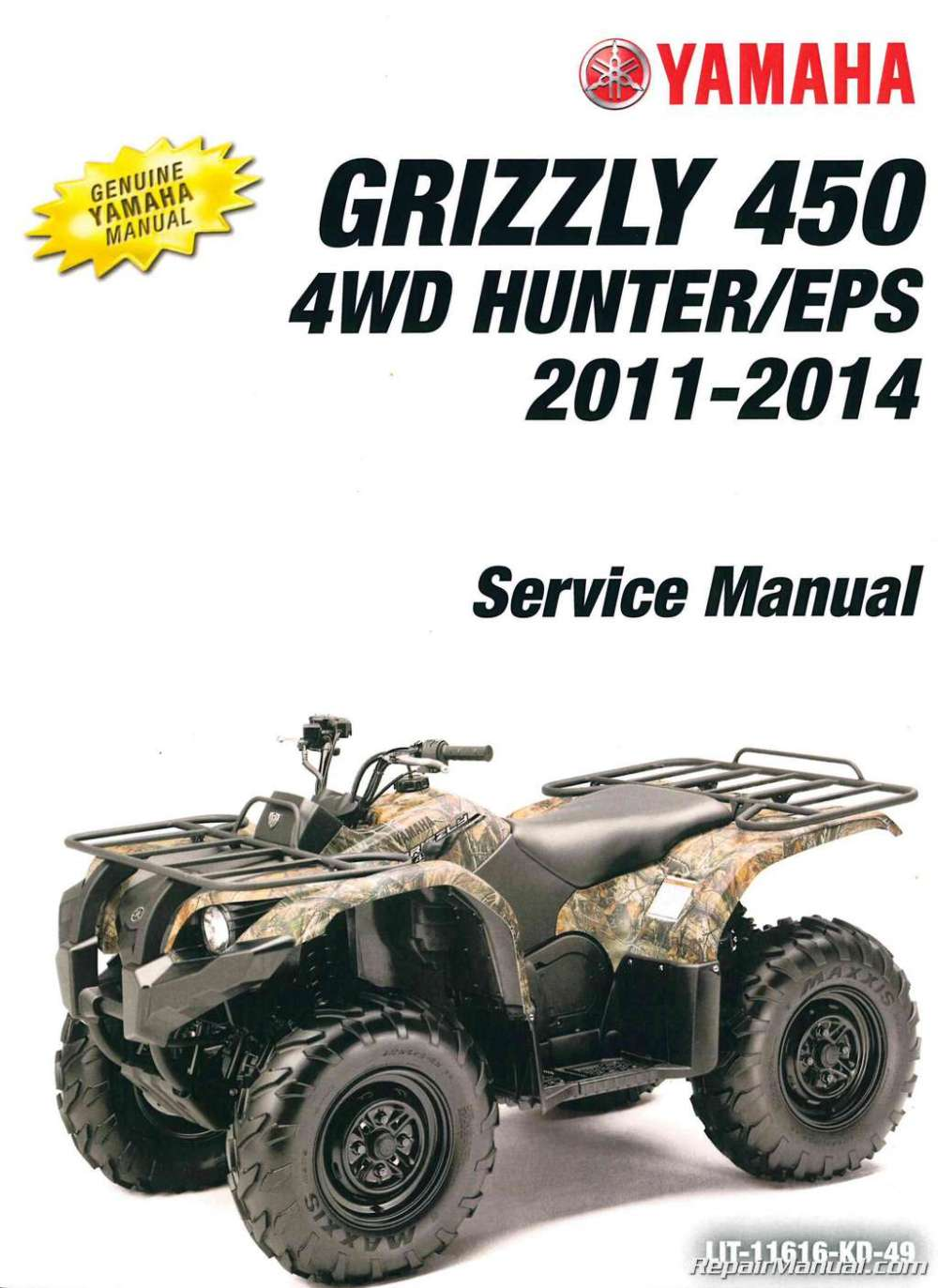 medium resolution of 2003 2006 yamaha kodiak 450 4wd 2007 2014 grizzly 450 4wd service manual
