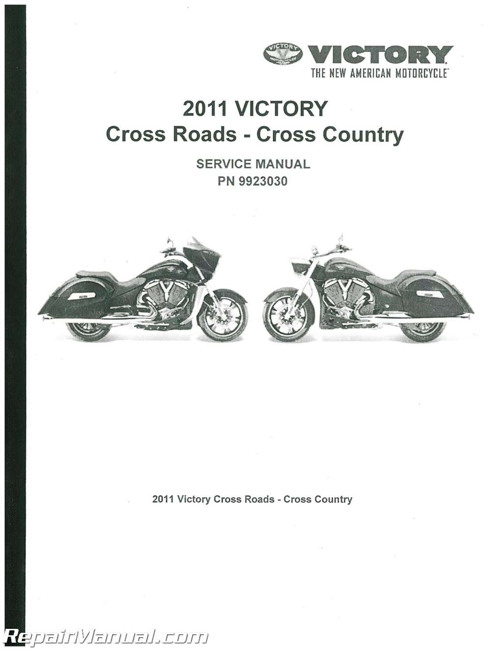 2011 Victory Cross Country And Cross Roads Service Manual