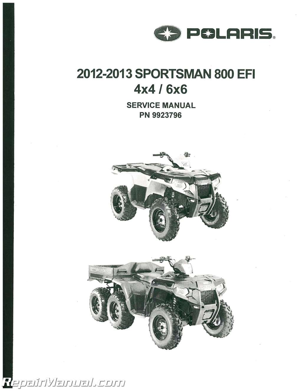 2012-2013 Sportsman 800 EFI 4 X 4 / 6 X 6 Big Boss Service