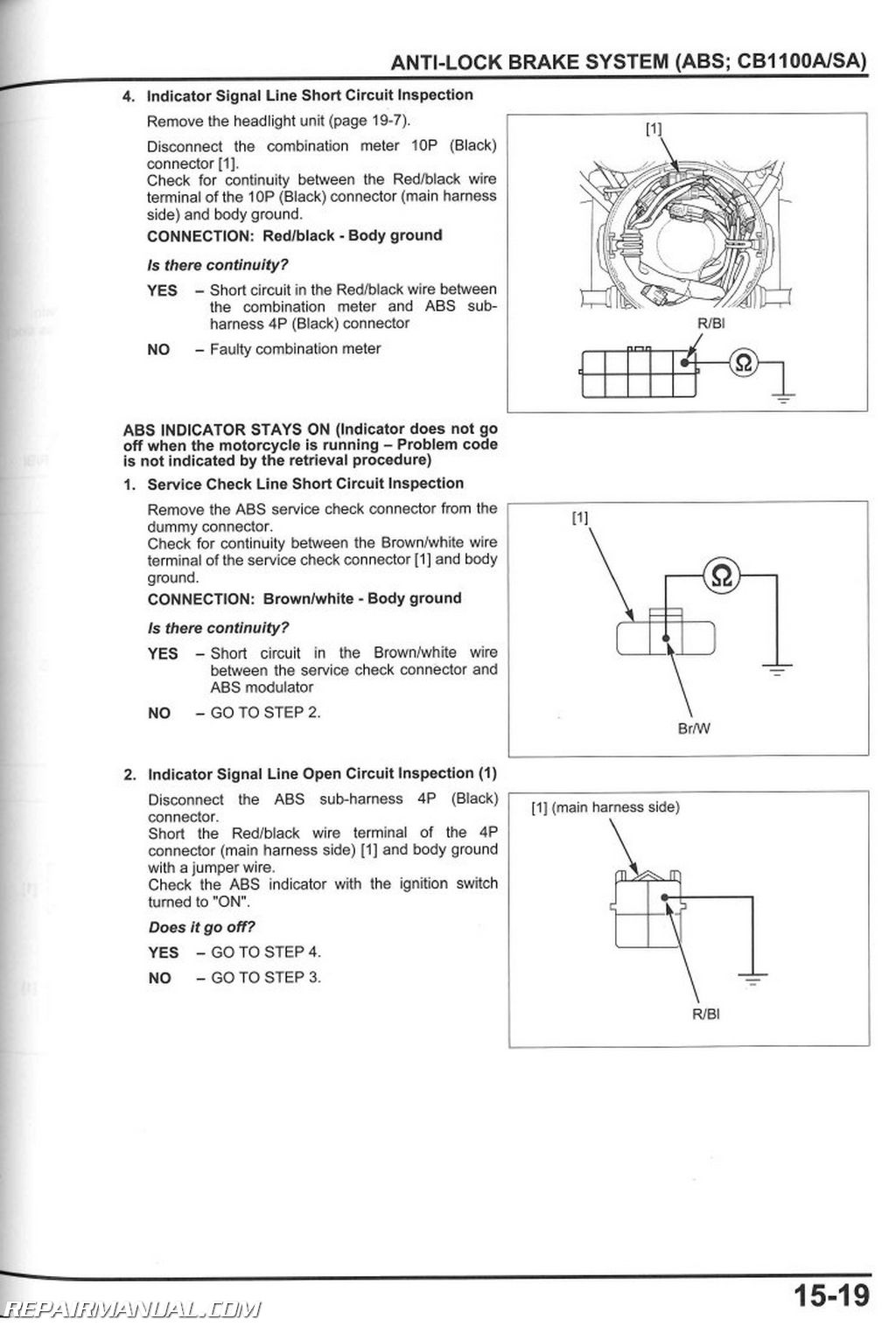 hight resolution of 2013 2017 honda cb1100 a motorcycle service manual rh repairmanual com subaru headlight wiring diagram honda motorcycle headlight wiring diagram