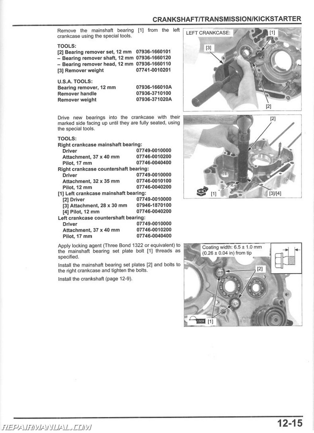 2013-2017 Honda CRF110F Motorcycle Service Manual