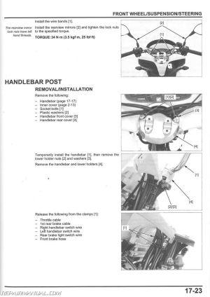 2013 – 2017 Honda PCX150 Scooter Service Manual : 61KZY03