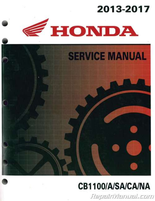 small resolution of 2013 2017 honda cb1100 a motorcycle service manual