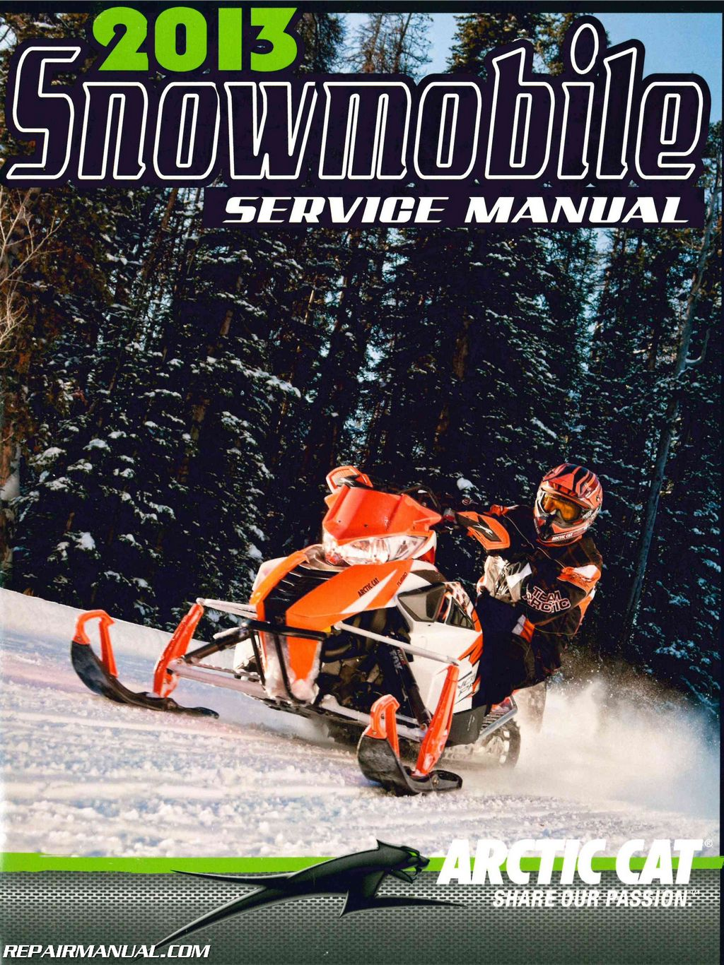 hight resolution of 2013 arctic cat snowmobile service manual jpg