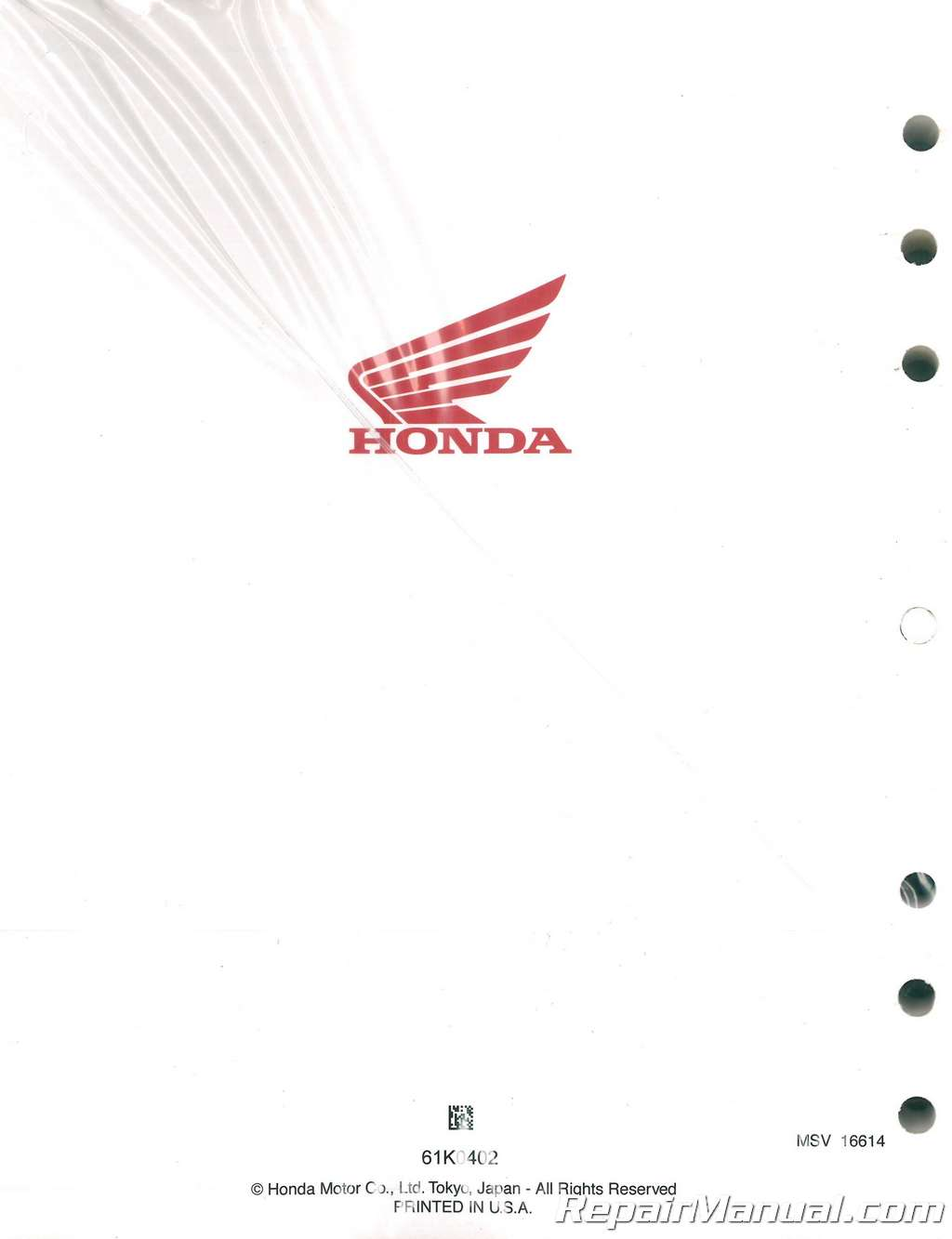 2014-2018 Honda NSS300 A Forza Scooter Service Manual