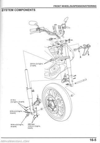 2014-2015 Honda GL1800 C A Valkyrie Motorcycle Service Manual
