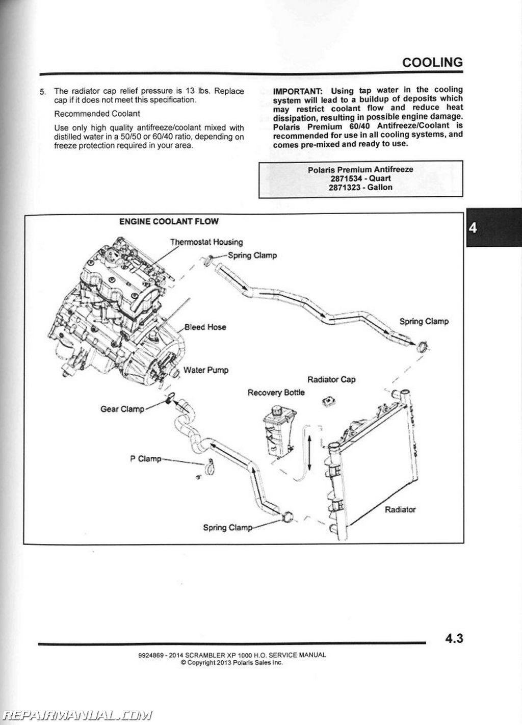 2014 Polaris Rzr 800 Wiring Diagram 2014 Polaris Scrambler Xp 1000 Ho Atv Service Manual
