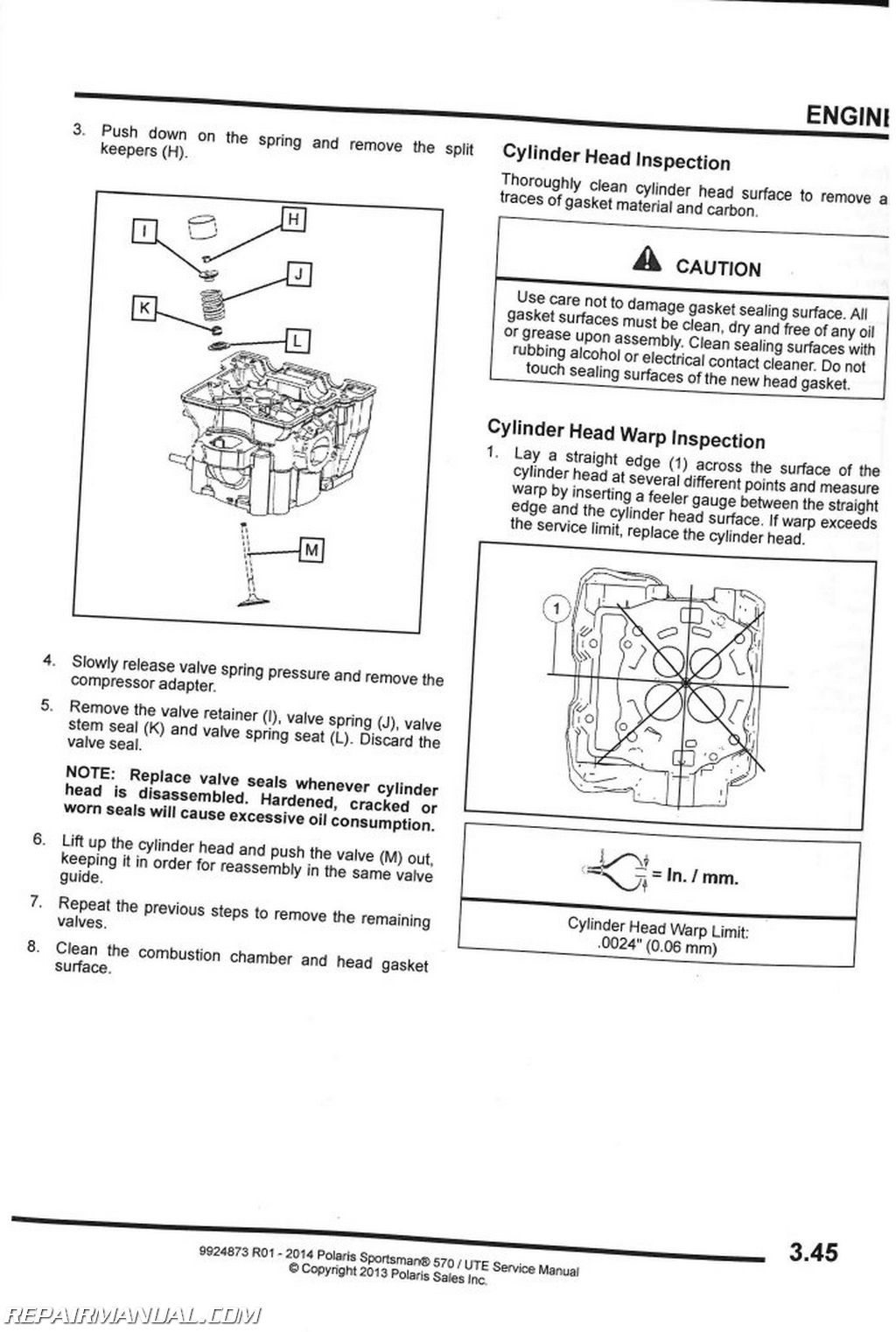Polaris Sportsman 570 Efi Hd Ute Service Manual