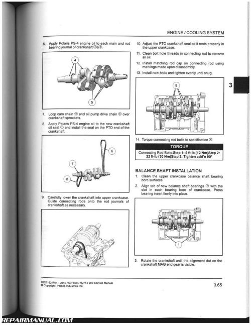 small resolution of 2015 polaris ranger rzr 900 rzr 4 900 side by side service manual rh repairmanual com