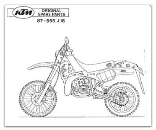1987 KTM 350 500 MX Engine Chassis Parts Manual