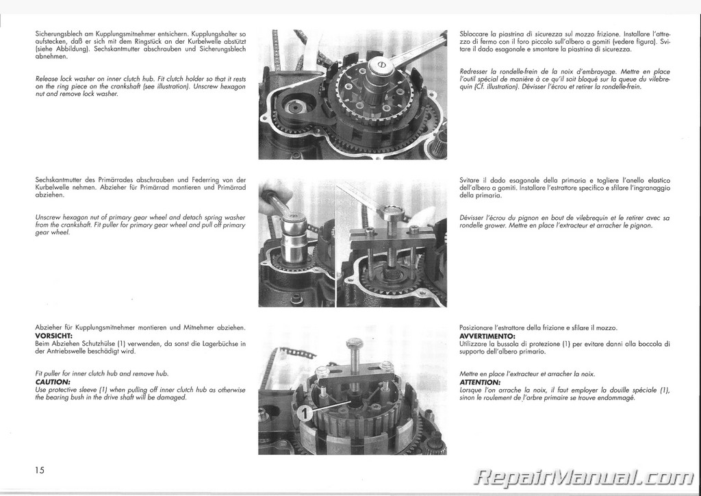 KTM Manual 1991-1992 500 600 LC4 Engines
