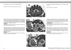 1991-1992 KTM 500 600 LC4 Engine Manual