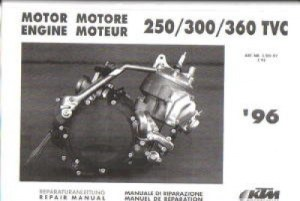 19961997 KTM 250 300 360 Motorcycle Engine Service Manual