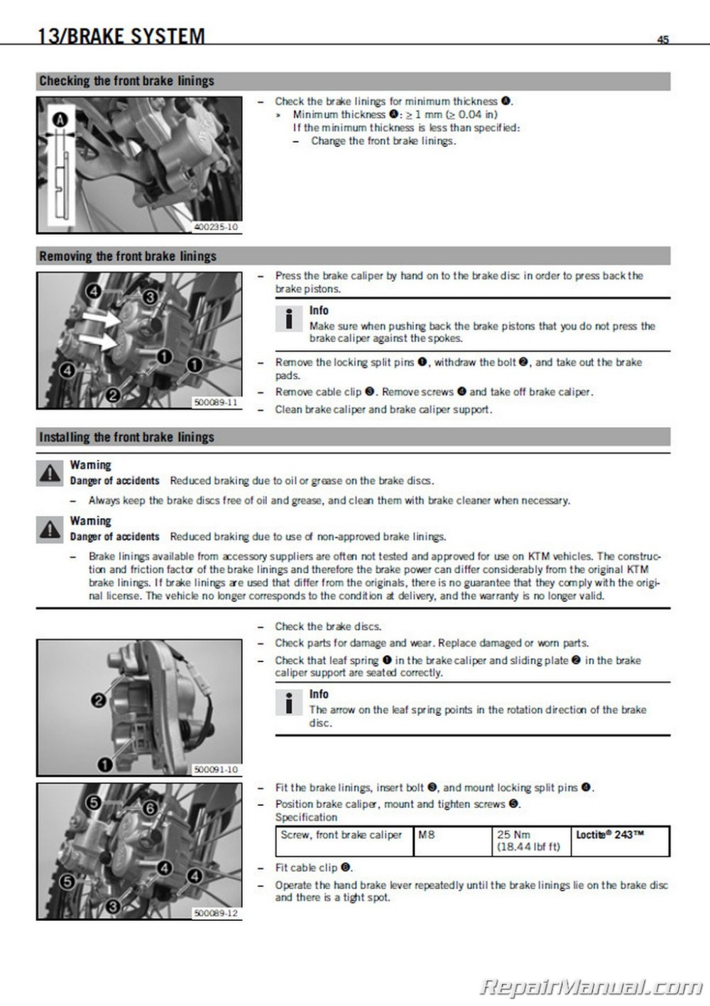 medium resolution of ktm parts manual