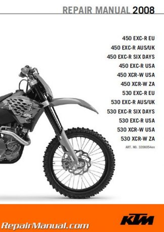 2008 ktm 450 530 excr xcrw motorcycle repair manual