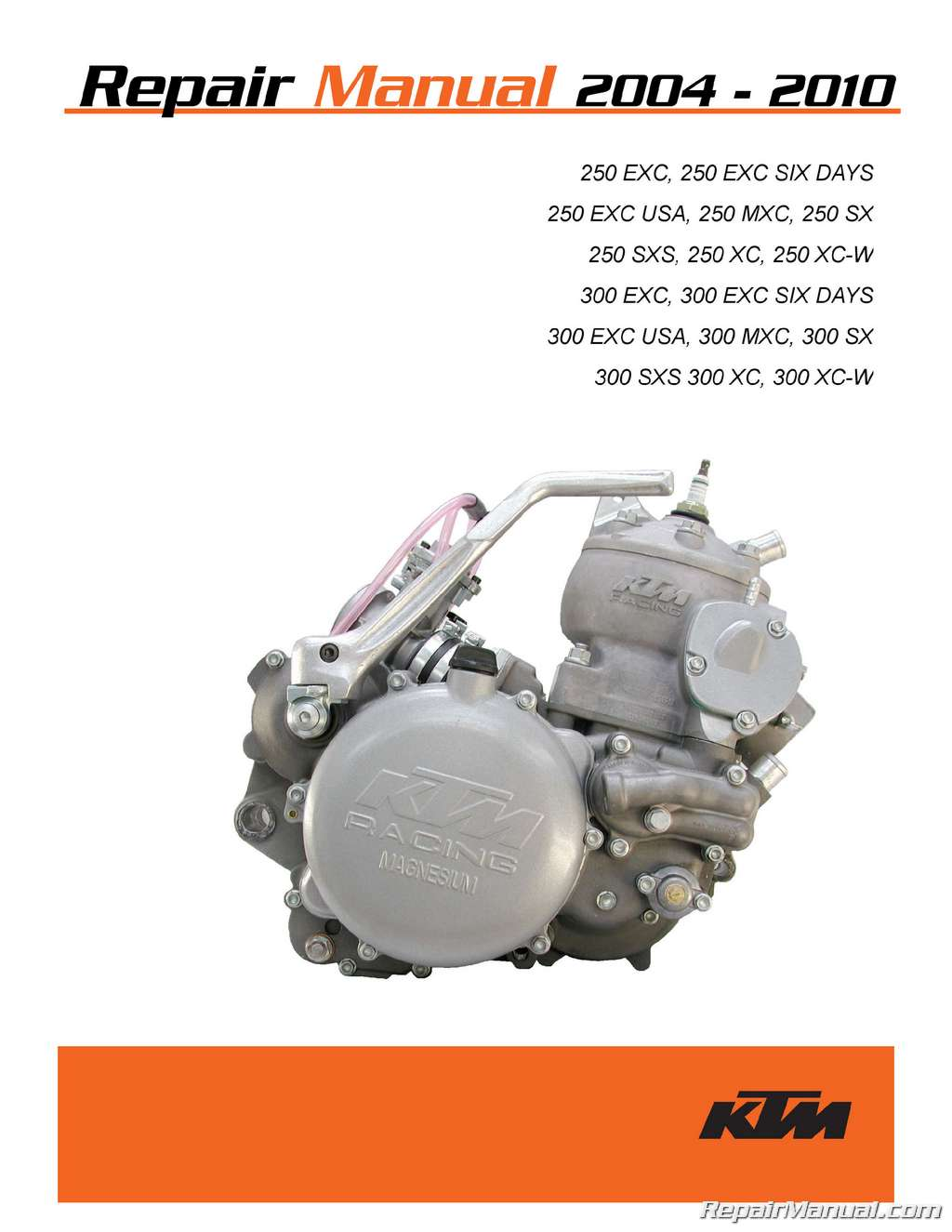 hight resolution of 2004 2010 ktm 250 300 two stroke printed motorcycle service manual bmw engine diagram ktm 250 engine diagram
