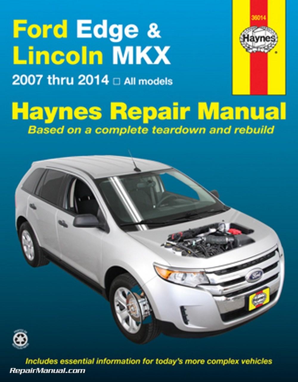 medium resolution of ford edge lincoln mkx haynes repair manual 2007 2014 hayne manual 2007 ford edge engine diagram