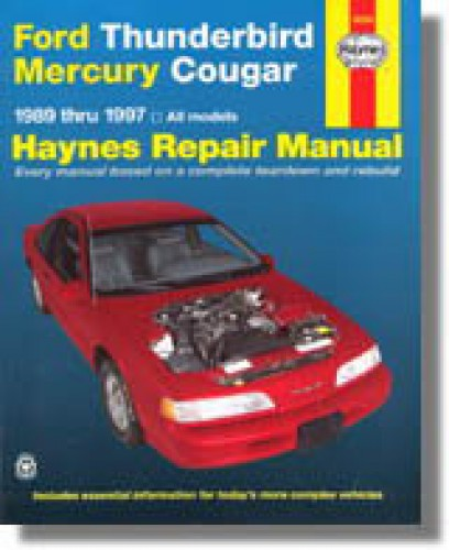 1996 Mercury Cougar Service Manual