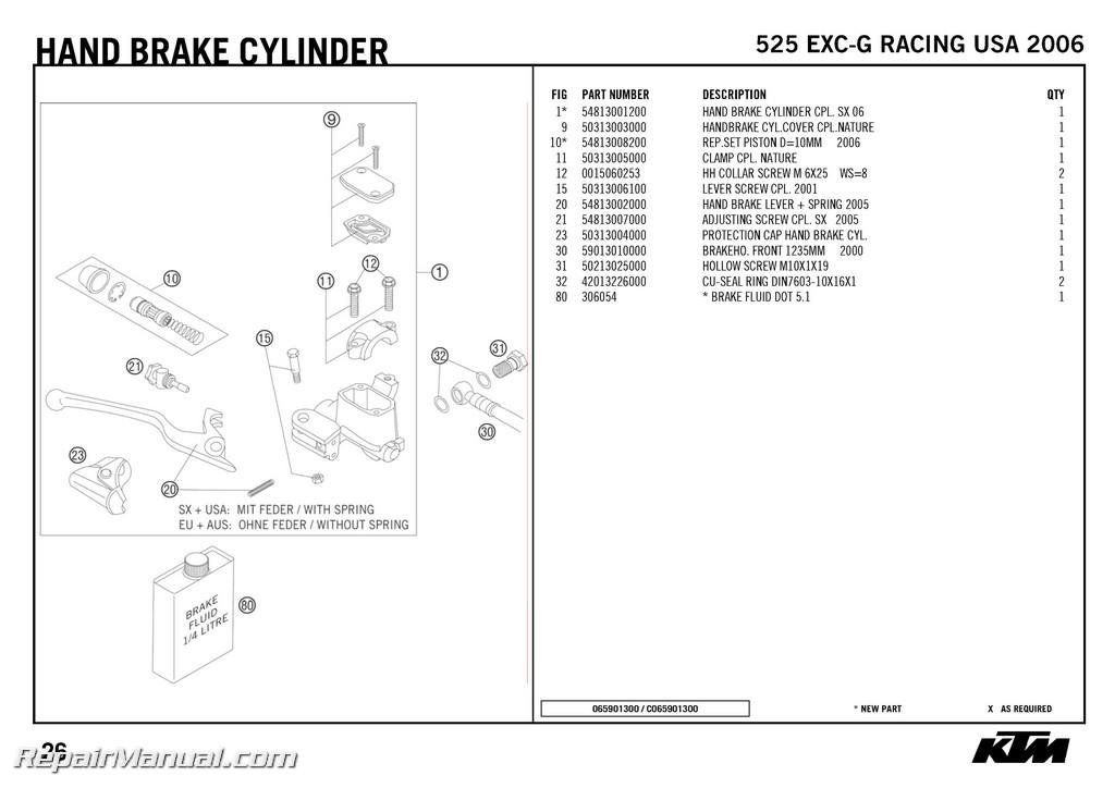 2004 Ktm 525 Wiring Diagram. Diagram. Auto Wiring Diagram