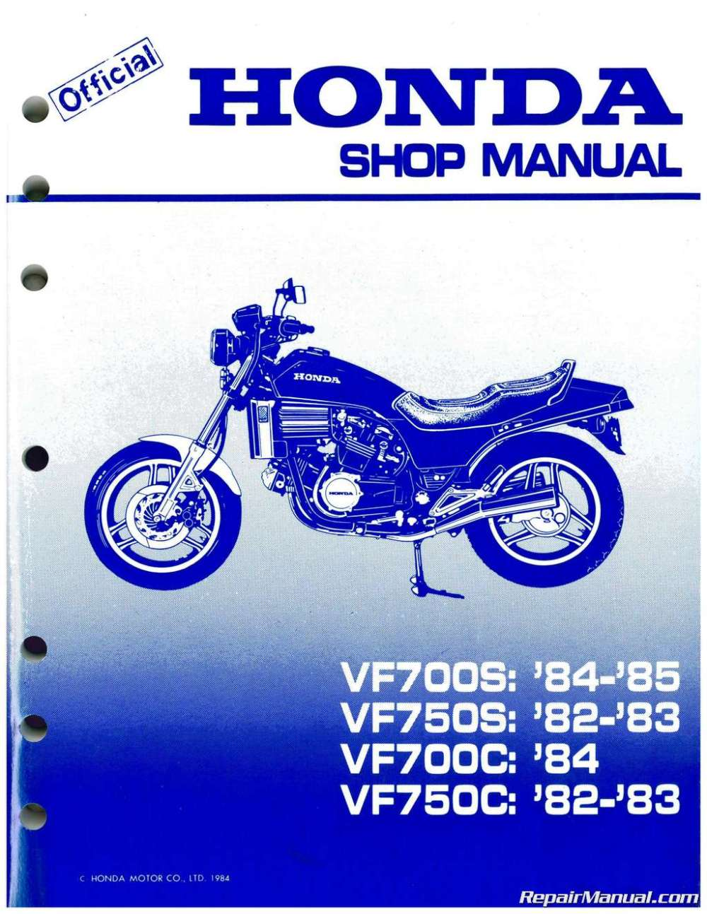 medium resolution of 1982 1984 honda vf700c magna vf750s v45 sabre service manual