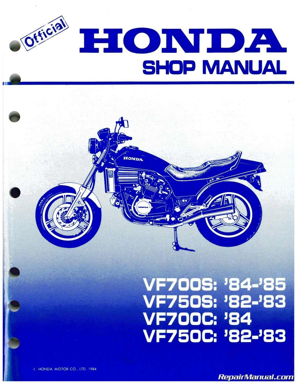 hight resolution of 1982 1984 honda vf700c magna vf750s v45 sabre service manual