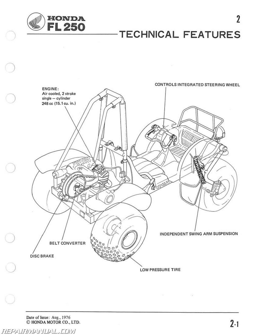 honda odyssey wiring diagram flow refrigeration cycle 1977 1984 fl250 service manual