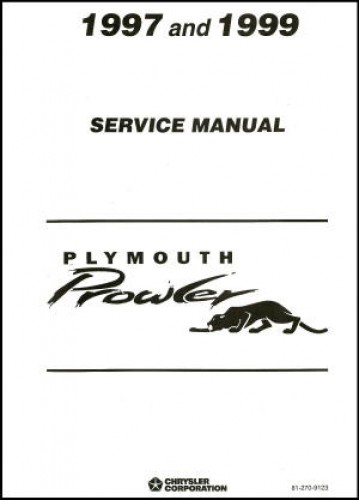 Used 1997 1998 1999 Plymouth Prowler Service Manual