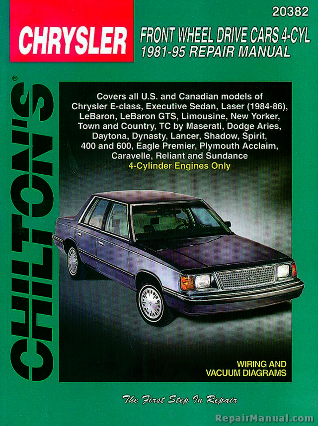 1992 Plymouth Acclaim Owners Manual
