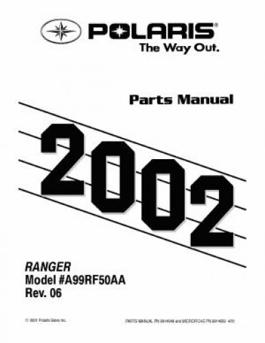1999-2002 Polaris RANGER Side by Side 6×6 Parts Manual