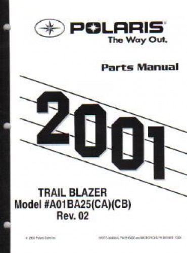 2001 Polaris Trail Blazer 250 Parts Manual