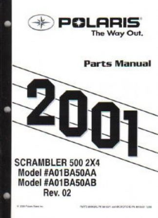 2001 Polaris Sportsman 90 Parts Manual