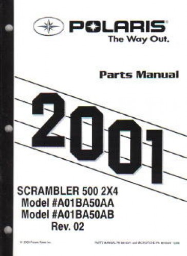 2001 Polaris Scrambler 500 2×4 Parts Manual
