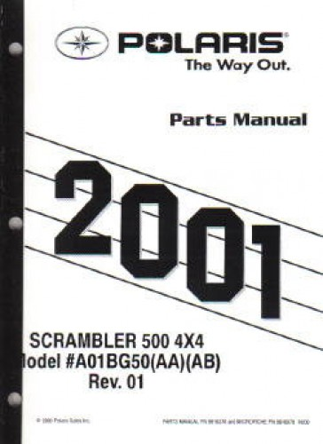 2001 Polaris Scrambler 500 4×4 Parts Manual