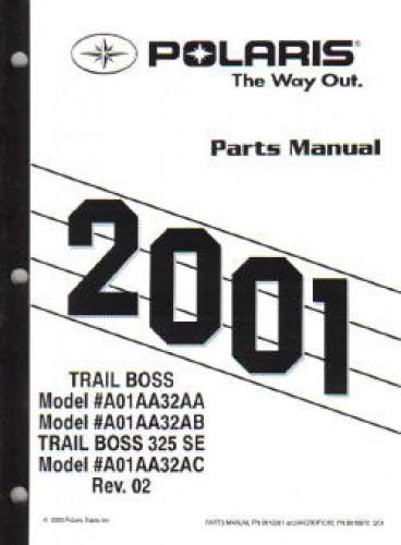 2001 Polaris Trail Boss 325 Parts Manual