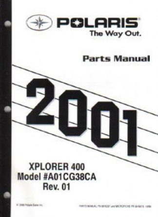 2001 Polaris Xplorer 250 4X4 ATV Parts Manual