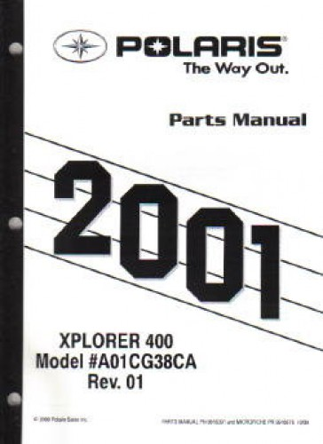 2001 Polaris Xplorer 400 ATV Parts Manual