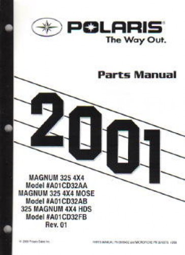 2001 Polaris Magnum 325 4X4 Parts Manual
