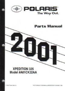 2001 Polaris Xpedition 325 Parts Manual
