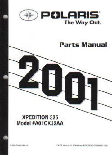 Used 2001 Polaris Xpedition 325 Parts Manual