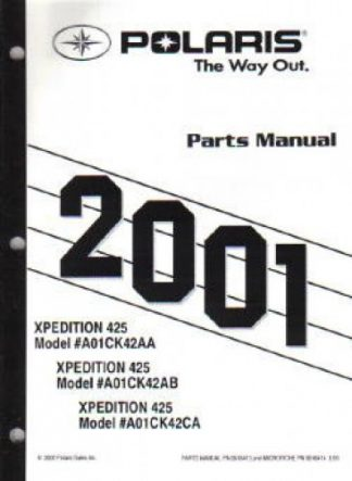 2001 Polaris Trail Boss 325 Parts Manual